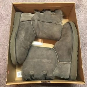 Grey Bailey Button UGG Australia Boots Size 7